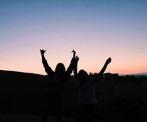 grunge, sky, and friends image