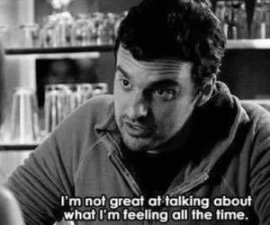 feelings, black and white, and new girl image