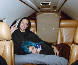 halsey, g-eazy, and couple image