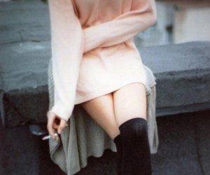 blurry, knee socks, and grunge image