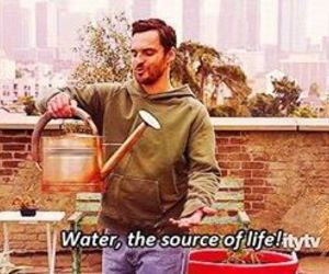 funny, water, and nick miller image