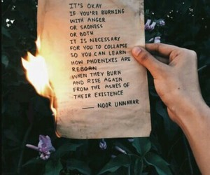 ashes, Letter, and fire image