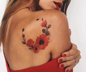 back, girl, and tattoo image