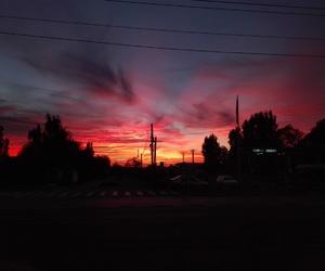 city, landscape, and sunset image