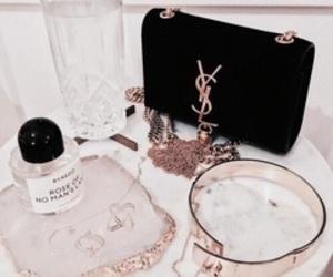 YSL, bag, and gold image