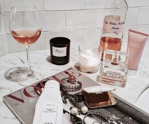 wine, beauty, and magazine image