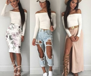 braids, jeans, and skirts image
