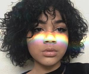 aesthetic, light, and rainbow image
