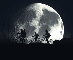 blanco y negro, night, and moon image