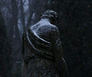 dark, gothic, and winter image