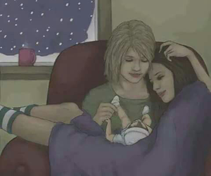 lesbian, love, and family image