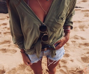 beach, clothes, and green image