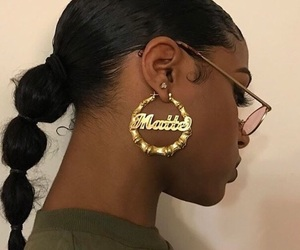 earrings and hair image