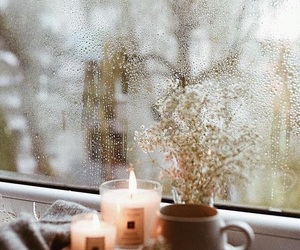 candle, autumn, and rain image