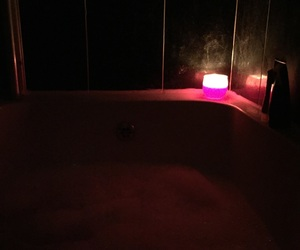 bad day, bath, and candle image