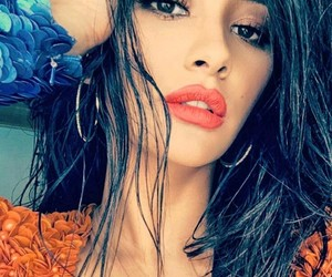 hair, lips, and lipstick image