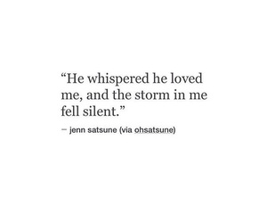love, quotes, and storm image