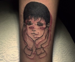 cool, junji ito, and tattoo image
