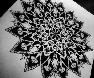 art, drawing, and tattoo image
