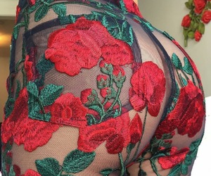 ass, body, and flowers image