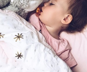 baby, family, and sleeping image
