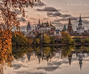 autum, cities, and reflection image