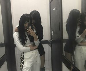 girls, ulzzang, and friends image