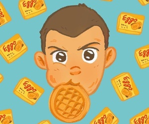 eleven, stranger things, and eggo image