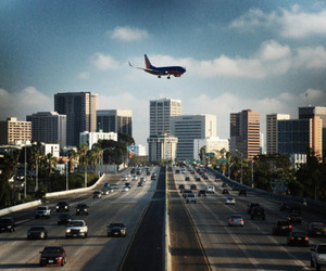 airplane, luxury, and road image