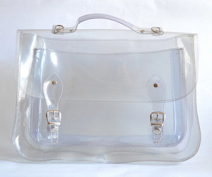 satchel, clear, and etsy image