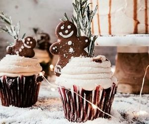cupcake, christmas, and holiday image