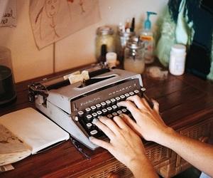 vintage, photography, and typewriter image
