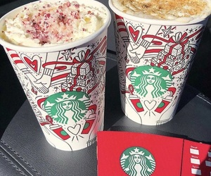 christmas and starbucks image