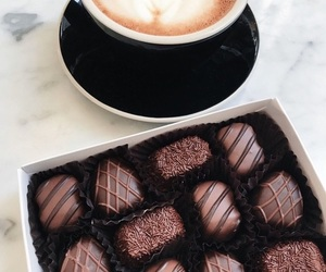 candy, sweet, and coffee image