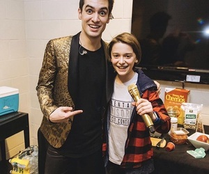 panic! at the disco, stranger things, and brendon urie image