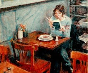 painting, reader, and reading image