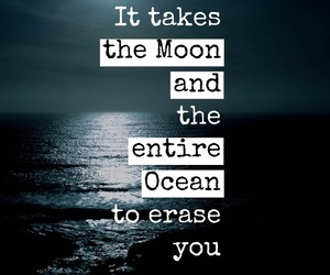 moon, ocean, and forget you image