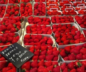 colour, strawberry, and sweet image
