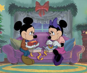 minnie mouse, christmas, and disney image