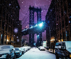 city, urban, and winter image