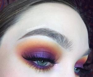 blended, eye, and smokey image