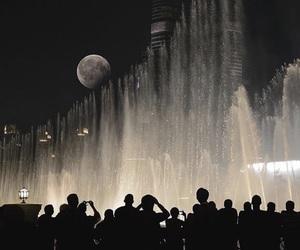 burj, Dubai, and night image