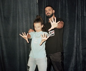 Drake, stranger things, and millie bobby brown image