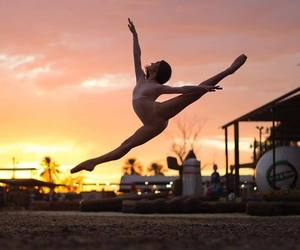 ballerina, gymnastics, and leap image