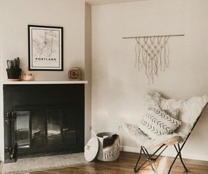 fireplace, home, and house image