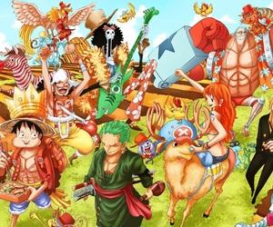 one piece, mugiwara, and anime image