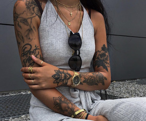 tattoo, clothes, and fashion image