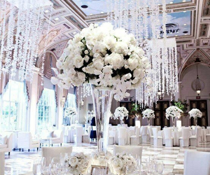 wedding, flowers, and white image