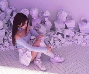girl, purple, and pastel image