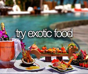 food, exotic food, and before i die image